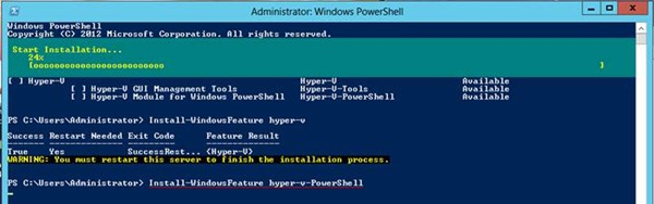 Windows Server 2012 PowerShell ile Hyper-V Kurulumu