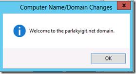 Client Bilgisayarın Domaine Dahil Edilmesi