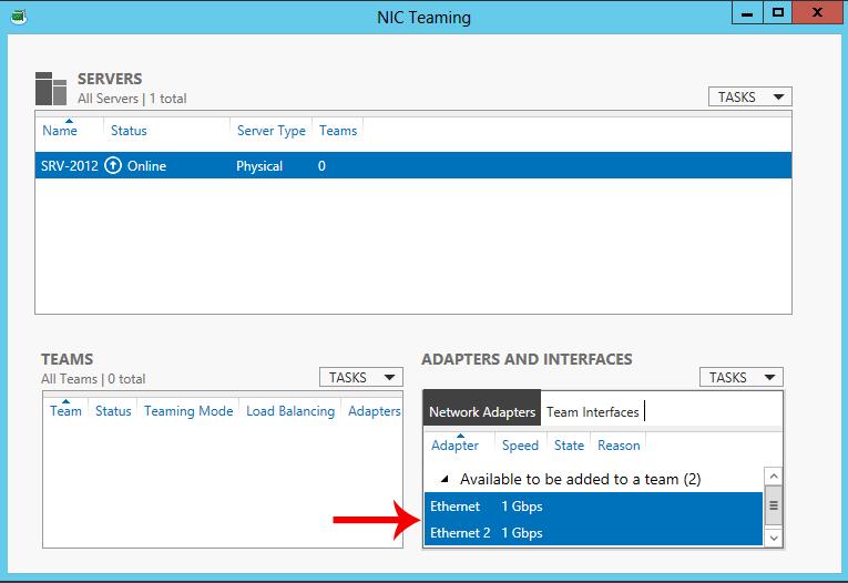 Windows Server 2012 NIC Teaming
