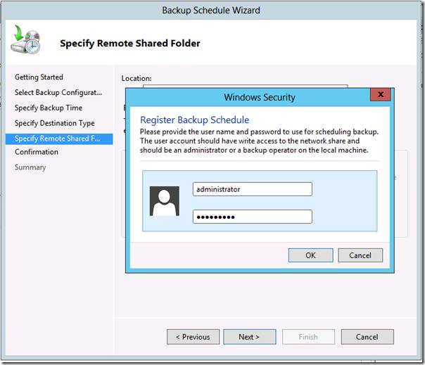 Windows Server 2012 Backup Schedule
