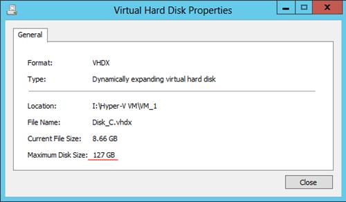 Hyper-V Expand Disk
