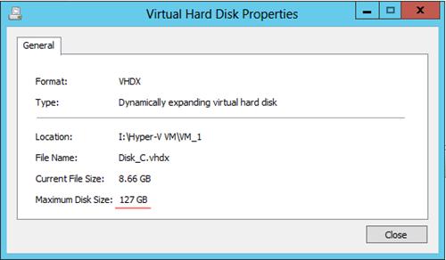 Hyper-V Shrink Disk