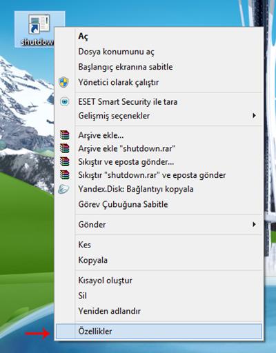 Windows 8 Kapat Kısayol Tuşu