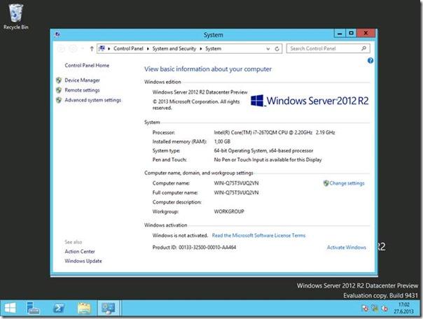Windows Server 2012 R2 Preview Kurulumu