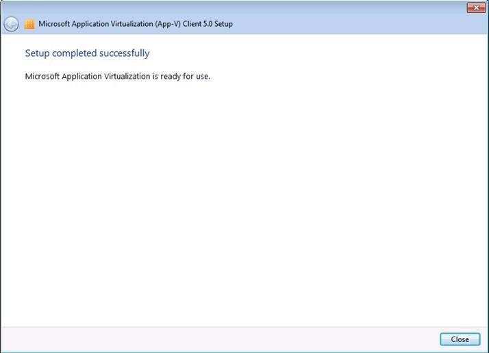 App-V 5.0 SP1 Client Kurulumu