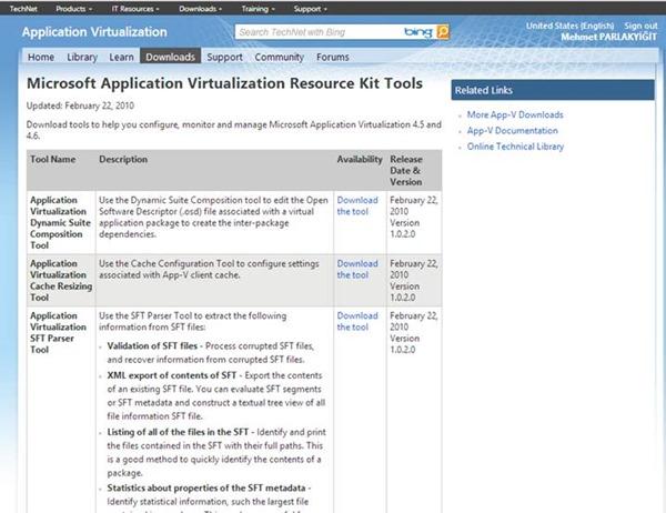 Microsoft Application Virtualization Resource Kit Tools