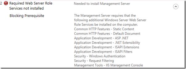 App-V Server Kurulumu için IIS Rol ve Bileşenleri