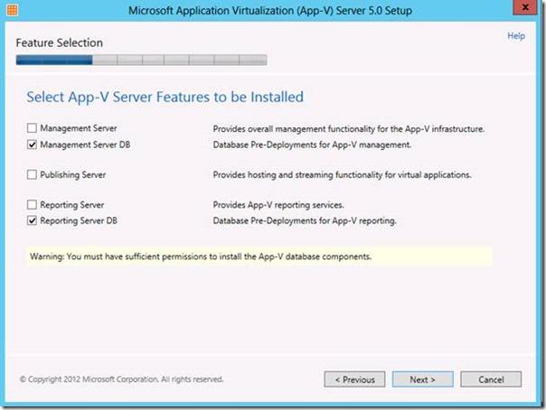 App-V 5.0 Sunucu Bileşenlerine Genel Bakış