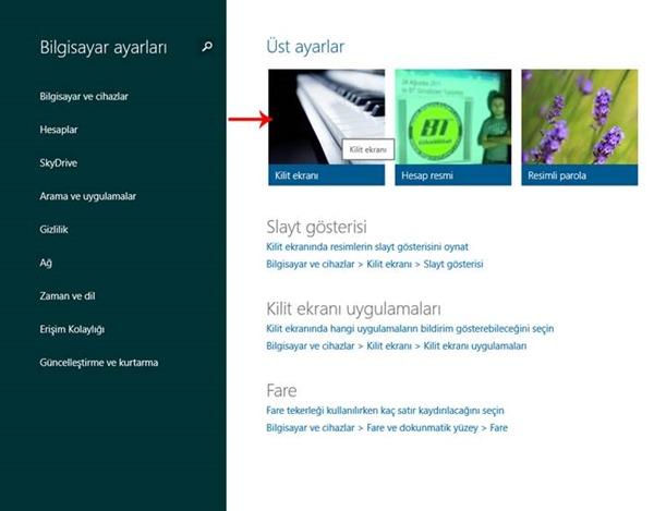 Windows 8.1 Kilit Ekranı Görselini Değiştirmek