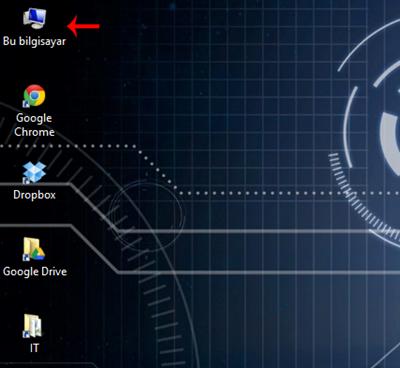 Windows 8.1 Bu Bilgisayar Simgesinin Masaüstünde Gösterilmesi