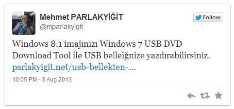 USB Bellekten Windows 7 Kurulumu