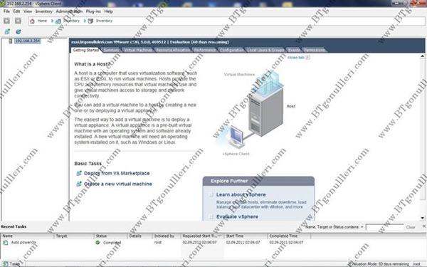 ESXi 5 Erişim ve Yönetimi
