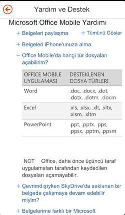 iOS Cihazlarda Office 365 Deneyimi